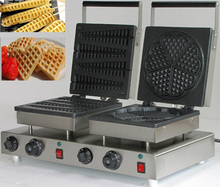 Electric belgian lolly waffle maker & heart shaped waffle iron for sale