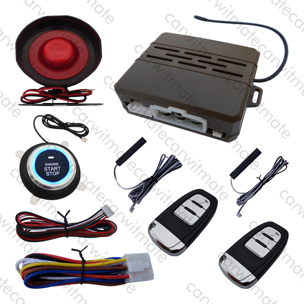 Smart Key PKE Car Alarm System Keyless Entry With Remote Engine Start Push Button Start Stop Fits For DC12v Cars car alarm system pke smart key touch password entry power saving remote engine start starter push start stop button dc12v