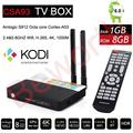 CSA93 S912 Octa Core Android 6.0 TV Box Amlogic 1 GB RAM 8 GB de 2.4 GHZ y 5.8 GHZ Dual WIFI H.265 BT4.0 4 K Kodi Reproductor de Medios de Streaming