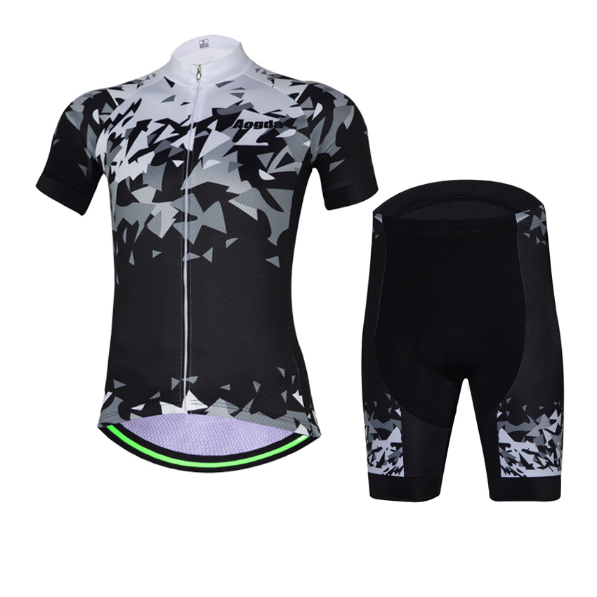Mens Breathable Cycling Jersey Shorts Set Bike Bicycle Short Sleeve Suit Summer