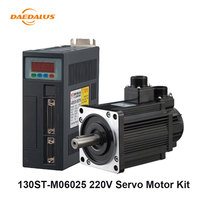 220V AC Servo Motor With Driver Kit 1.5KW 30A 130ST M06025 6N.M Single Phase Motor Matched Driver Cable For CNC Machine