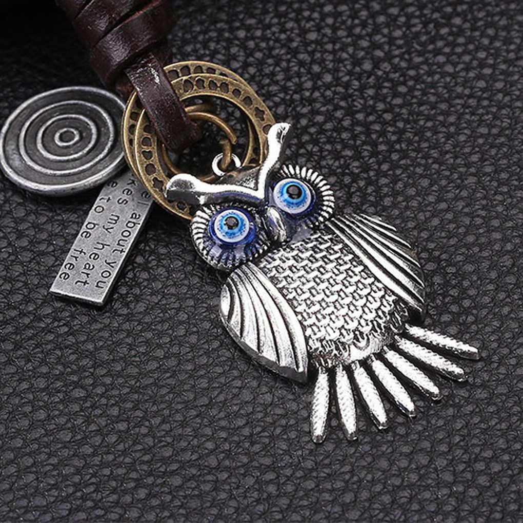 Llaveros de aleación búho ala avión llavero de cuero para llaves de coche llavero de regalo de joyería