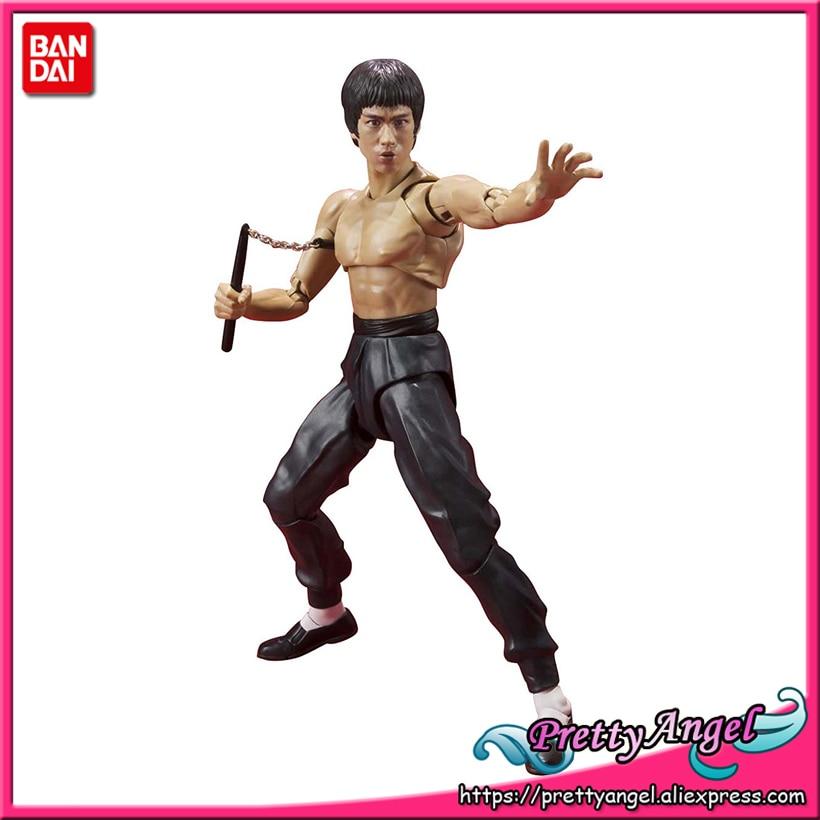 PrettyAngel - Genuine Bandai S.H.Figuarts Bruce Lee Action Figure famous world kongfu superstar bruce lee action figure 35cm kong fu master bruce lee pvc figure toy