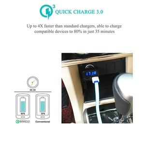 Image 2 - רכב מטען תשלום מהיר 3.0 LED תצוגת USB מהיר מטען לxiaomi IPhone Huawei סמסונג S9 S8 QC 3.0 USB רכב מטען