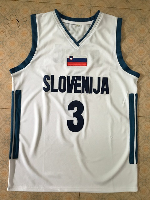 3 Goran Dragic 2017 Team Slovenija Retro Throwback Basketball Jersey white  Customize any size number and player name 559e48b27