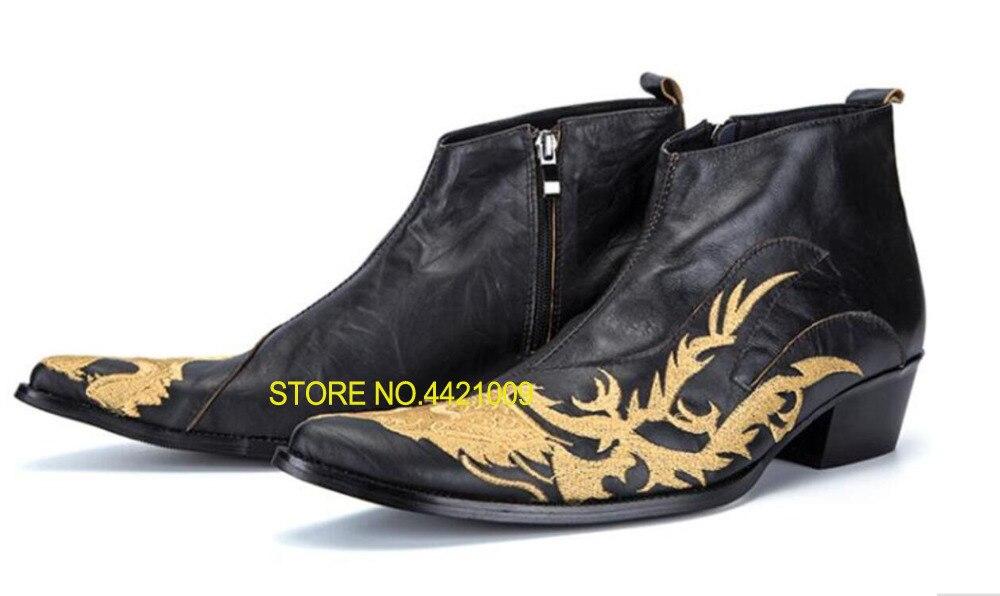 Embriodery 2018 военные тактические ботинки из натуральной кожи черные мужские ковбойские резиновые сапоги botines hombre Челси мужская обувь