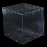 Square Transparent PVC Box Folding Carton Packaging Clear Candy Cholocate Cosmetic Cupcake Packing Birthday Wedding Party