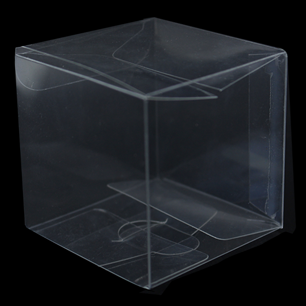 Square Transparent PVC Box Folding Carton Packaging Clear Candy Cholocate Cosmetic Cupcake Packing Birthday Wedding Party Favor