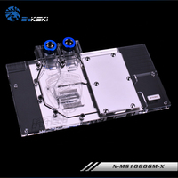 BYKSKI NIVDIA MSI GTX1080 GTX1070 GTX1060 Full Cover Graphics Card Water Cooling GPU Block N MS1080GM