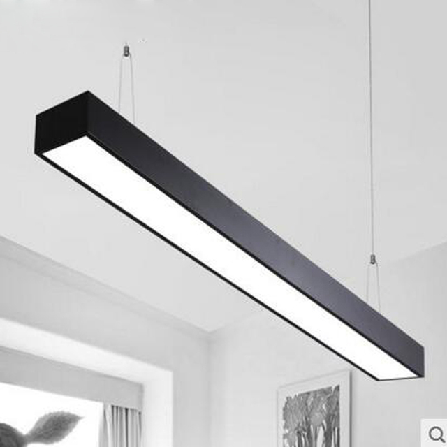 LED office chandeliers strip lights rectangular studio supermarkets shops Internet cafes industrial style chandeliers led light