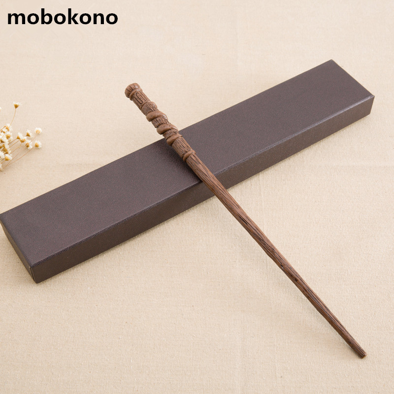 mobokono New Arrive Metal Iron Core GeorgeWeasley Wand Harry Potter Magic Magical Wand Gift Box Packing