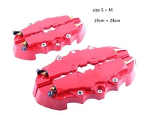 Discount! ZUCZUG Free Shipping 4 PCS Car Auto Disc Brake Caliper Cover With 3D Word Universal Kit Fit 2 Medium and 2 Small