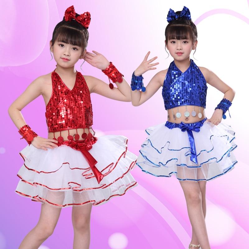 Songyuexia Costume Children's Jazz Dance Modern Dance Costumes Fluffy Gauze Sequins Kindergarten Performance Clothing