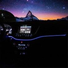 Инструмент Панель отделкой Атмосфера свет для hyundai Tucson 2015 2016 интерьер светодиодный синий Рамка приборной панели свет для Tucson 2017 2018