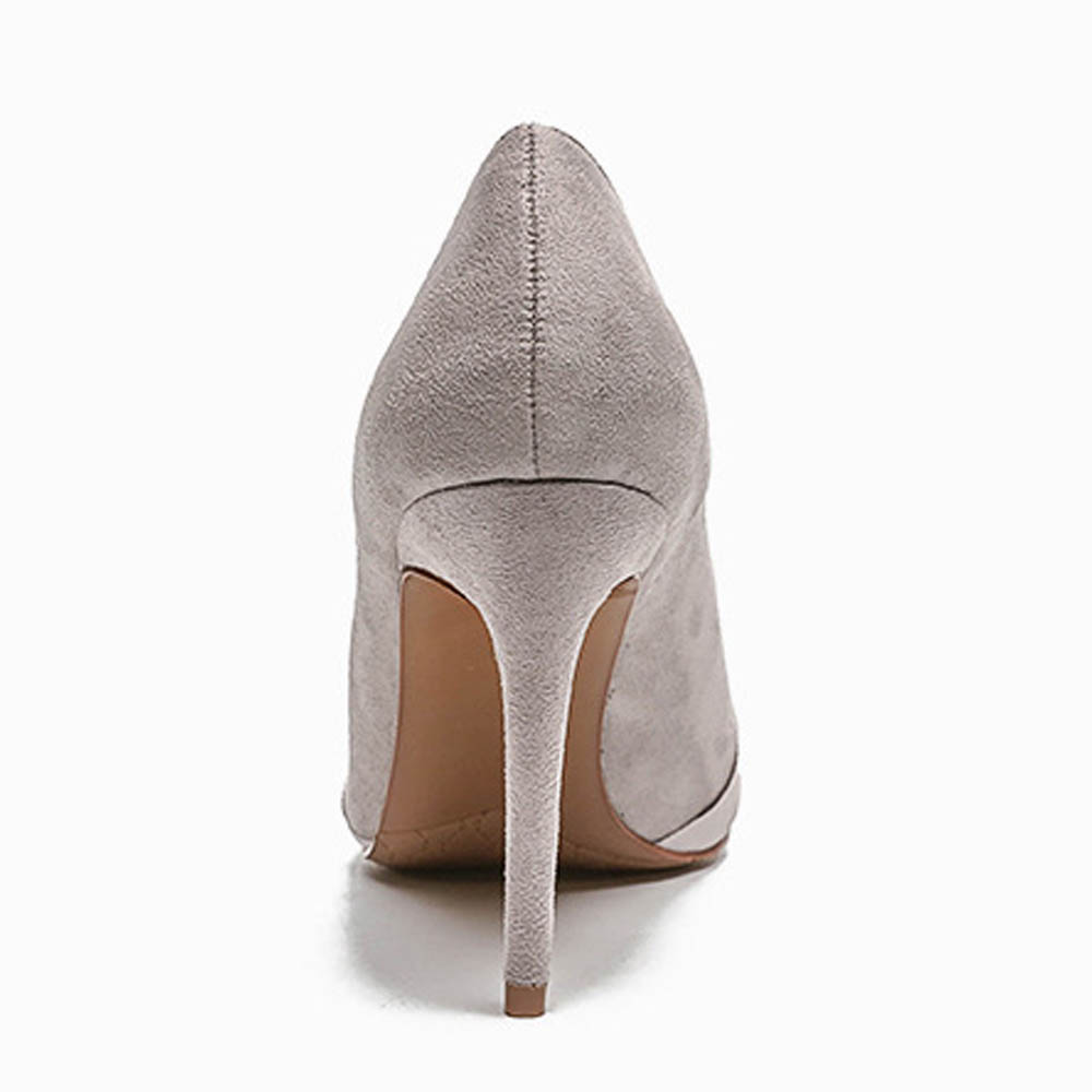 Spring Women Pumps 2018 New Extreme High-heeled Shoes Shallow Fashion Thin Heels Pumps Pointed Toe Dress Pumps Rubber Sole Flock