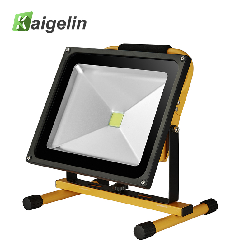 50W Waterproof LED Rechargeable Flood Light Portable Spotlight Changing Floodlight Emergency Outdoor Night Camping Work Light ultrathin led flood light 200w ac85 265v waterproof ip65 floodlight spotlight outdoor lighting free shipping