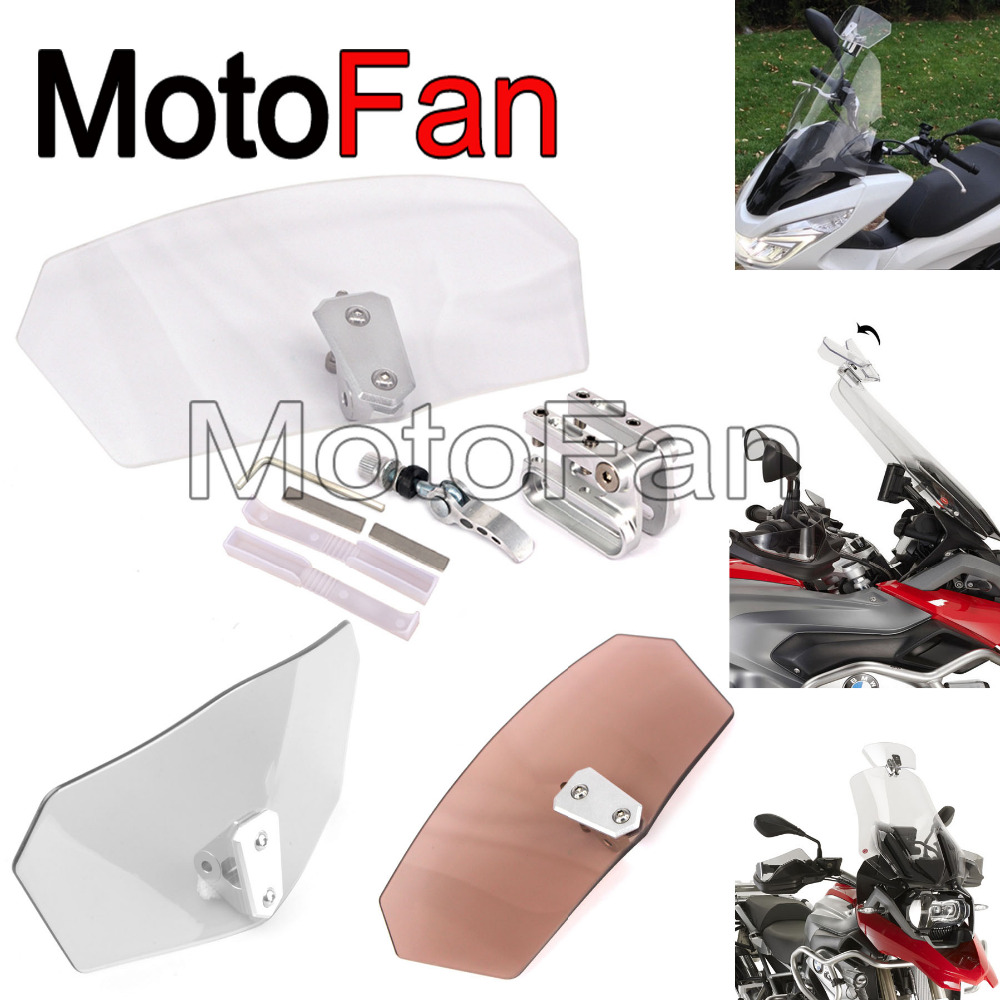 Universal motorcycle windshields custom windscreen extension wind deflector replacement for Yamaha bmw harley davidson triumph