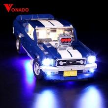 Led światła kompatybilny dla Lego 10265 A B Ford Mustang diy oświetlenie kreatywny samochód wyścigowy klocki prezenty tylko światło