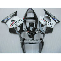 Инъекций 100% подходит для Kawasaki ZX6R 2000 2001 2002 комплект обтекателей ниндзя 636 ZX 6R Белый Черный Запад Обтекатели 00 01 02 ZX 6R LX25