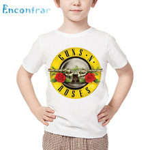 Kids Rock Band Gun N Roses Print T shirt