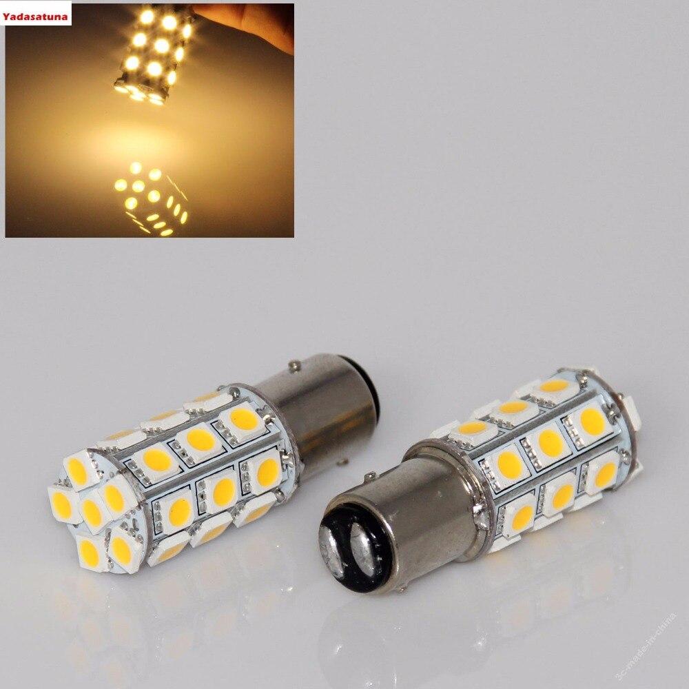 4 шт. 1157 1157A 2057 основание 27 SMD 5050 светодиодсветодиодный сменная лампа для автомобиля накаливающая лампа для салона RV кемпера стоп-сигнал пово...