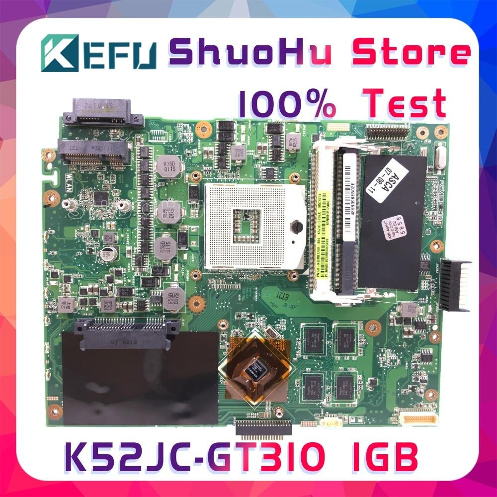 SHELI K52JC For ASUS K52JC K52J X52J A52JC A52J GT310/1GB laptop motherboard tested 100% work original mainboard k52ju laptop motherboard mainboard for asus k52jt k52j k52jc a52j x52jc x52j k52je with hd6370 512m ddr3