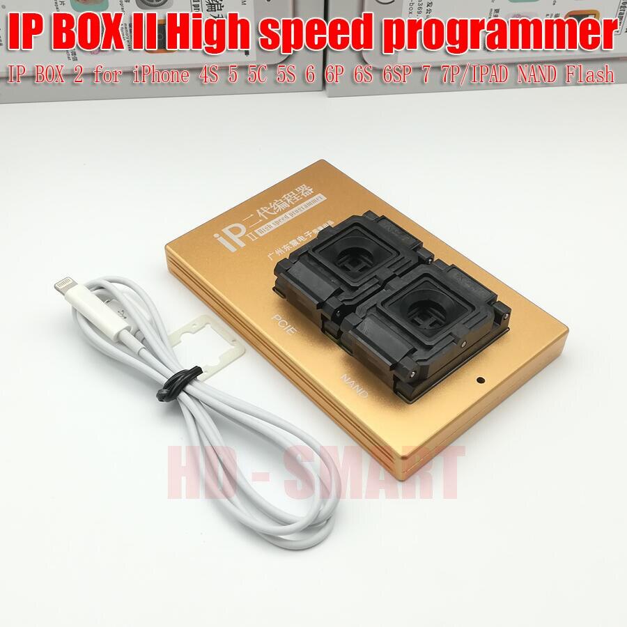 2018 IP Caja 2 th más caja IP V2 de alta velocidad programador NAND PCIE programador para iPhone 4S 5 5C 5S 6 P 6 s 6SP 7 p