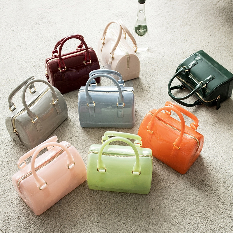 2019 New Silicone Summer Sweet Candy Jelly Handbags Women Casual Tote Bag Ladies Crossbody Shoulder Beach Bags Girls Pouch Bolsa