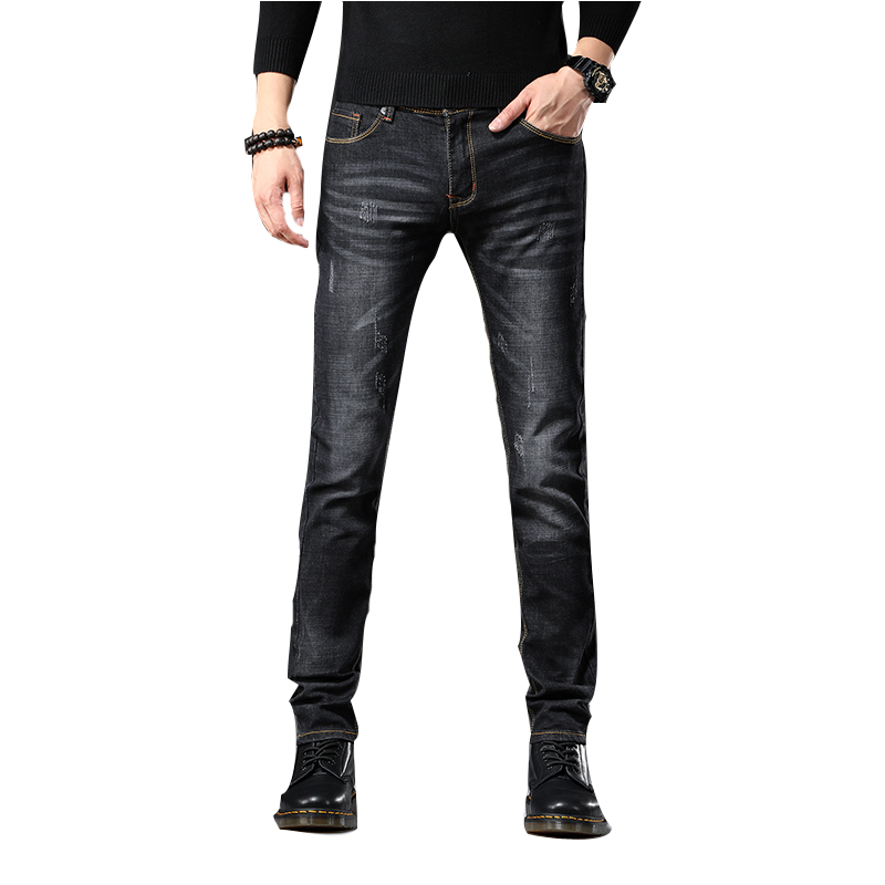 2019 New Fashion Boutique Stretch Casual Mens Jeans / Male Stretch Trouser Pants / Skinny Jeans Men Straight Mens Denim Jeans