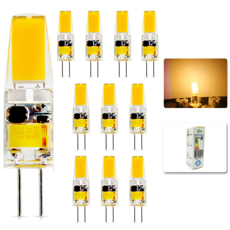 10Pcs/lot 2015 G4 AC DC 12V Led bulb Lamp SMD 6W Replace halogen lamp light 360 Beam Angle luz lampada led