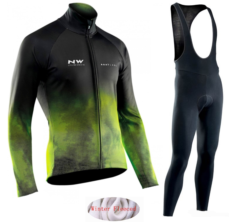 Image 4 - Northwave 2019 Winter thermal fleece Set Cycling Clothes NW men's Jersey suit Sport riding bike MTB clothing Bib Pants Warm sets-in Cycling Sets from Sports & Entertainment