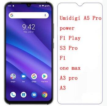 Перейти на Алиэкспресс и купить Закаленное стекло для Umidigi A3 A5 S3 S5 Pro F1 one max F1 F2 Play Power 3 Защитная пленка для экрана Мобильный телефон