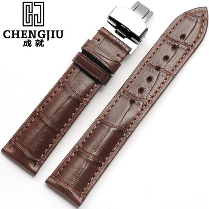 Top Men's Alligator Leather Strap For Tissot/T41/Le Locle Watchband Watch Bracelets 14 16 18 19 20 21 22 24mm Clock Bands Hours genuine leather watchband for tissot t41 le locle top quality men watch straps 20 22 24mm soft leather bracelets male watch band
