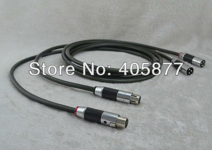 Cable de interconexión de conductor de plata pura de 3 núcleos Yarbo de gama alta con cable de enchufe XLR de carbono 1 M