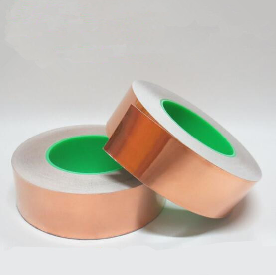50/20 Meters Double Side Conductive Copper Foil Tape Strip Adhesive Shielding Heat Resist Tape