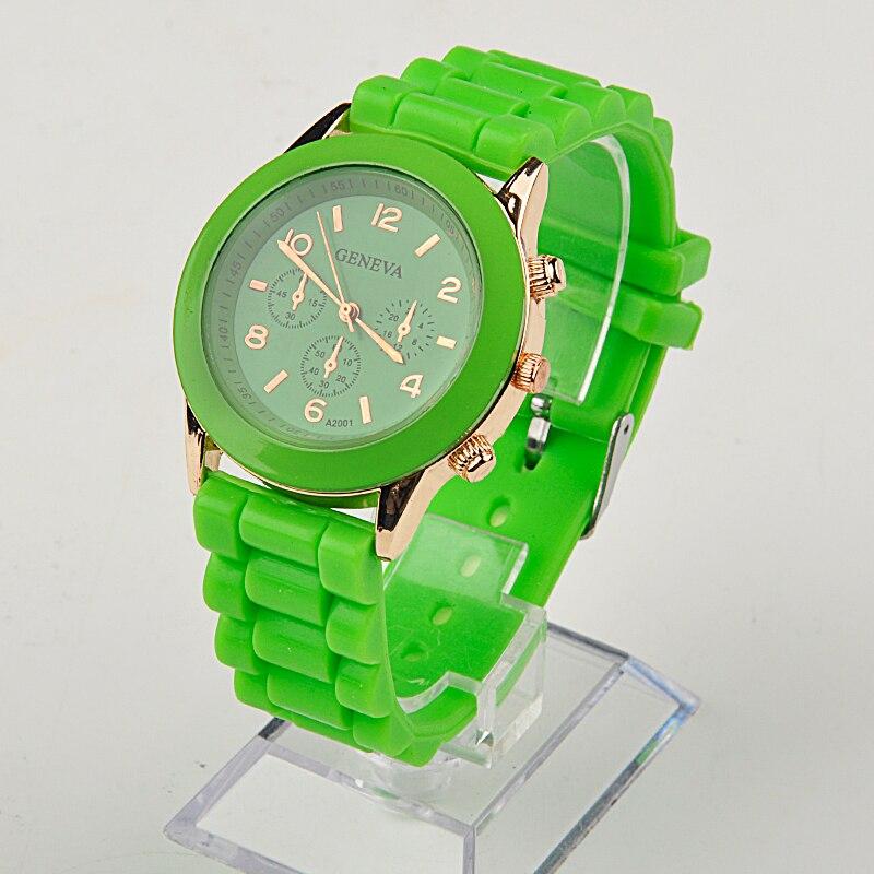 Fashion Unisex Quartz watch men women Analog wristwatches Sports Watches Rose Gold Silicone Watches