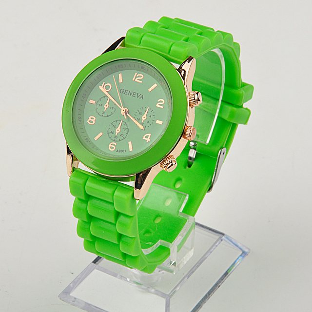 Fashion Unisex Quartz watch men women Analog wristwatches Sports Watches Rose Go