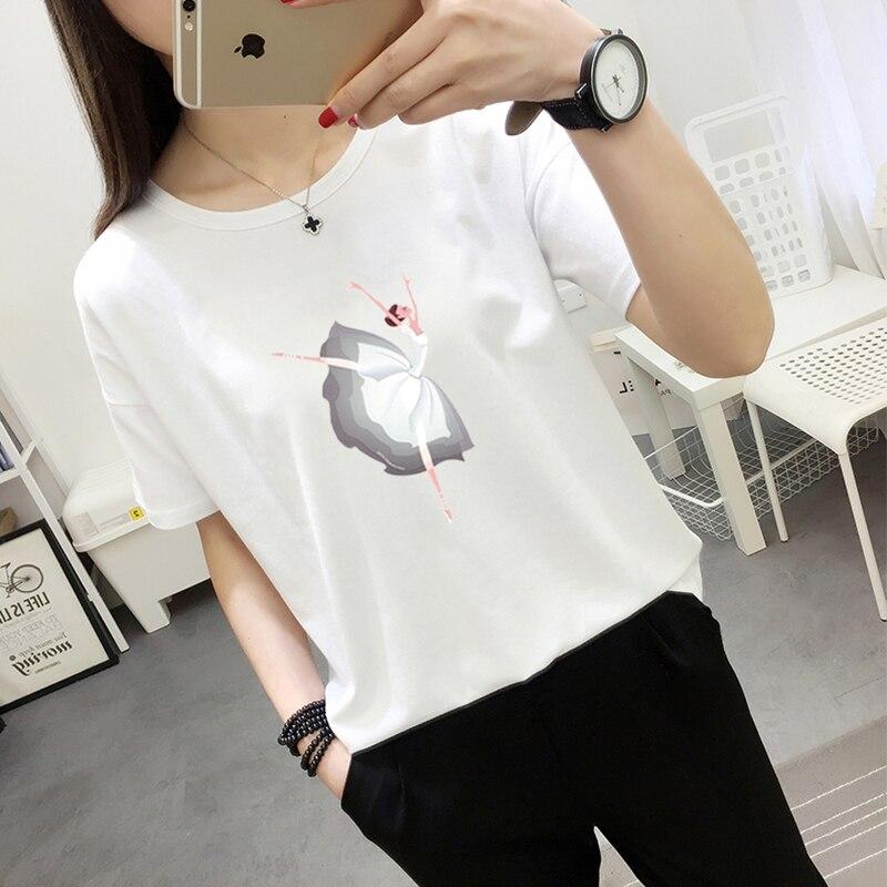 2017 Brand New Summer Fashion clothes for women Ballet girl Print Harajuku kawaii t shirt womens T-Shirts camisetas 0430-12