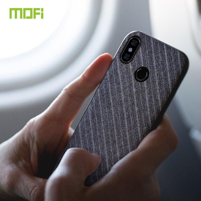 Note 5 Cas Pour Xiaomi Redmi Note 5 Housse Tissu Tissu Mofi Pour Redmi Note 5 Cas D'affaires Foncé artisanat Gentleman Cas