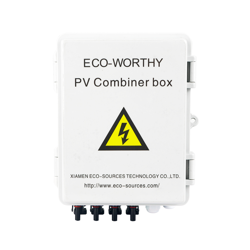 Safe 4 String PV Solar Combiner Box 12A circuit breaker control for solar panel