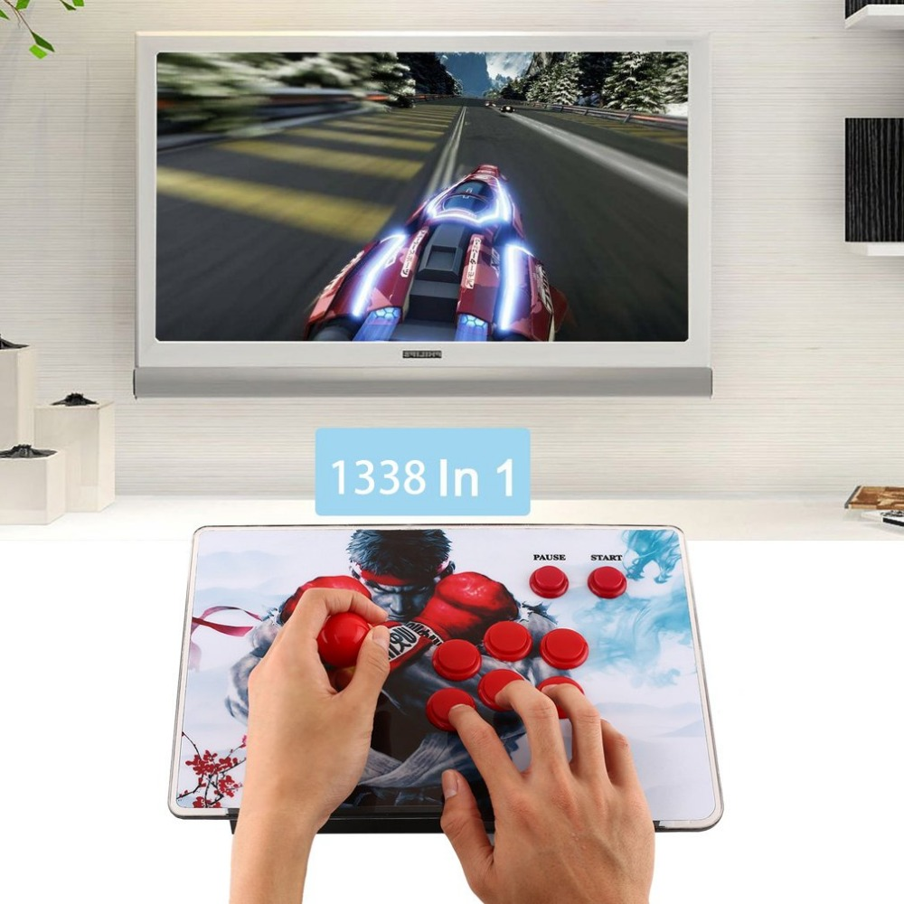 1299 in 1 Games Street Fighter Panel Gamepad Retro Video VGA/HDMI USB Joystick 6 Buttons Fightstick Controller Arcade Console