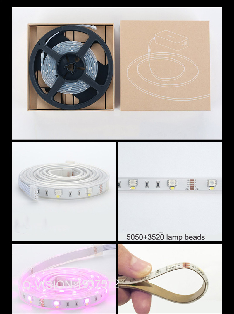 15-Lifesmart New LED Light Strip Wireless Remote Control by Phone16 Million Colors RGB Dimmable Smart Home Automation Customerized