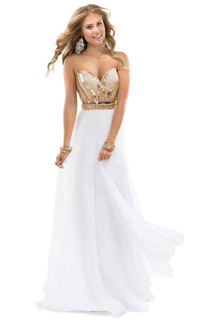 avond jurk wit