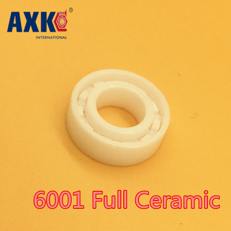 Axk 6001 Full Ceramic Bearing ( 1 Pc ) 12*28*8 Mm Zro2 Material 6001ce All Zirconia Ceramic Ball Bearings 628 full ceramic bearing 1 pc 8 24 8 mm zro2 material 628ce all zirconia ceramic ball bearings