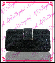 Aidocrystal black diamond  italian trendy double use banquet bag and shoes set