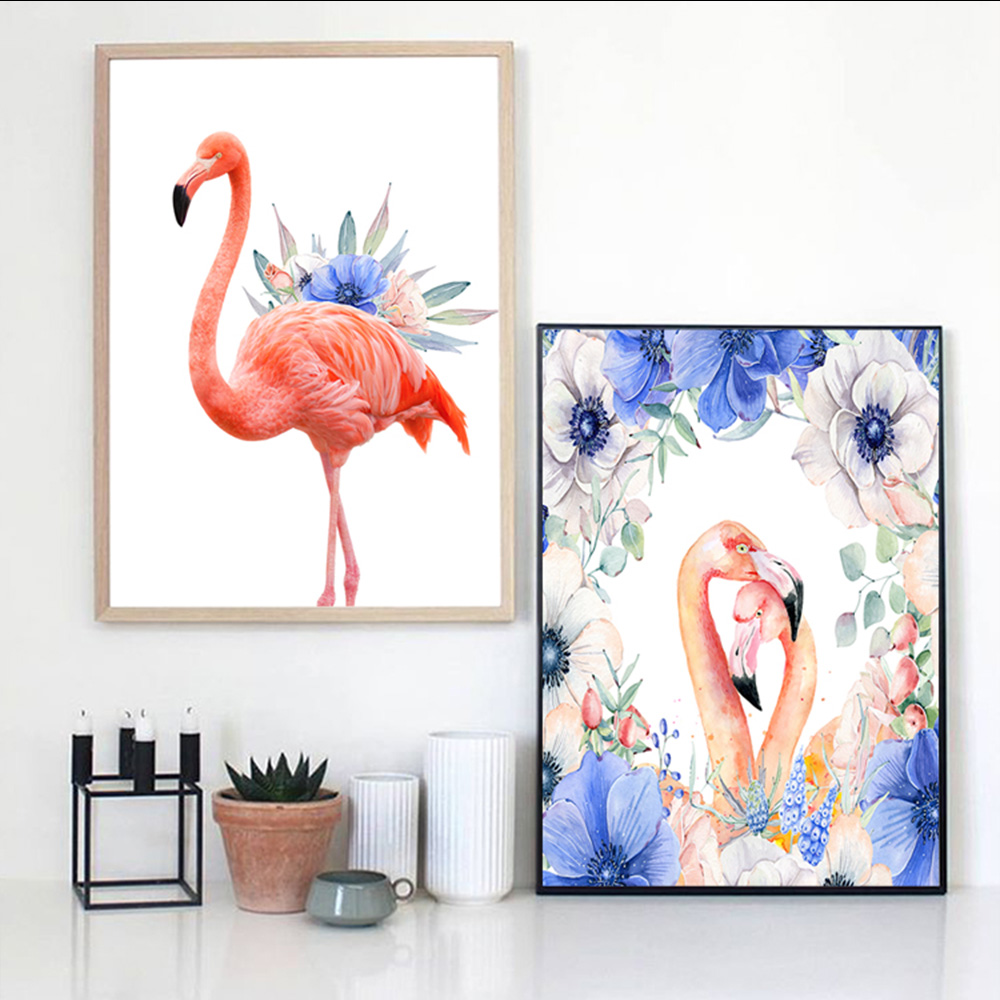 Watercolor Flamingo Canvas Art decoration for Living Home wall art Print Painting Poster Wall Pictures Decoration Wall Decor