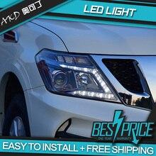 АКД тюнинг автомобильный головной светильник для Nissan Patrol Y62 2012- головной светильник светодиодный DRL Hid Bi Xenon луч сигнальный светильник ангельские глазки
