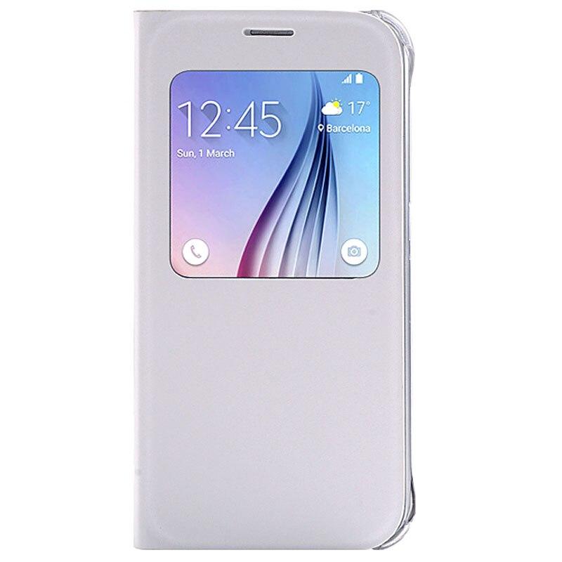 imágenes para S-GUARD Note5 funda Original Para Samsung Galaxy Note5 Chip IC caso Caso de Cuero Del Tirón de Visualización Inteligente Reposo Automático Función de Despertador cubierta