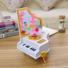 Piano music box, flash girl music box, creative decorative furnishing articles, personality a birthday present