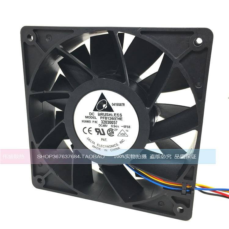 Delta Electronics PFB1248EHE Server Square Fan DC 48V 0.54A 120x120x38mm 4-wire